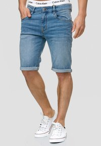 INDICODE JEANS - CUBA CADEN - Denim shorts - blue - 0
