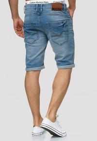 INDICODE JEANS - CUBA CADEN - Denim shorts - blue - 2