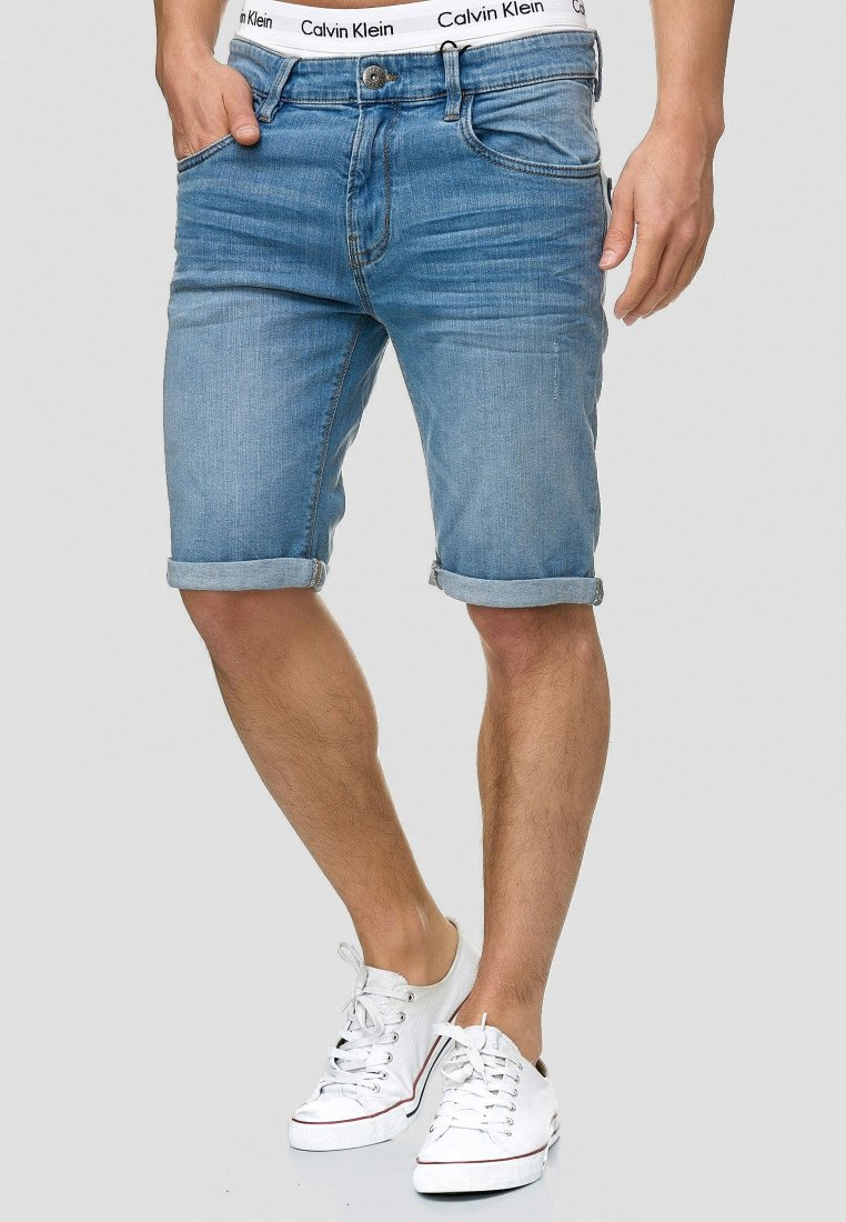 INDICODE JEANS - CUBA CADEN - Denim shorts - blue