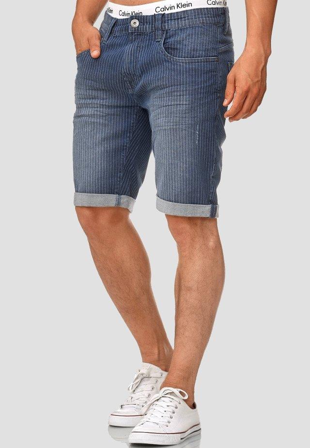 CUBA CADEN - Denim shorts - indigo blue