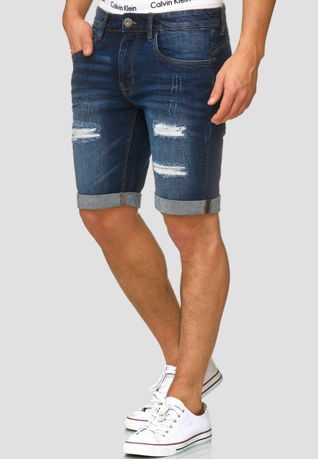 CUBA CADEN - Jeans Shorts - dark blue