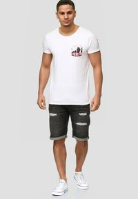 INDICODE JEANS - CUBA CADEN - Denim shorts - black - 1