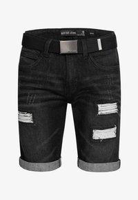 INDICODE JEANS - CUBA CADEN - Denim shorts - black - 4