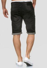 INDICODE JEANS - CUBA CADEN - Denim shorts - black - 2