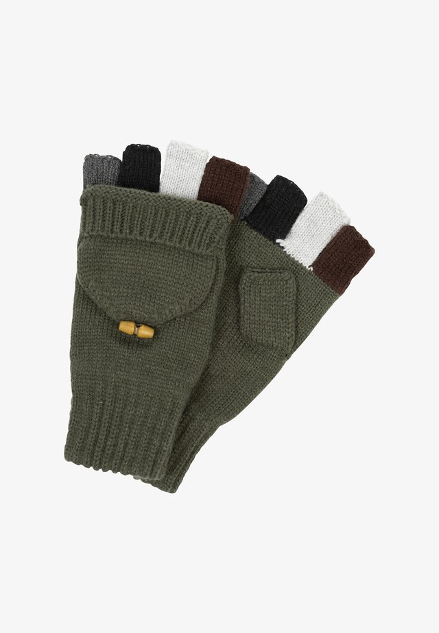 Mittens - dark green