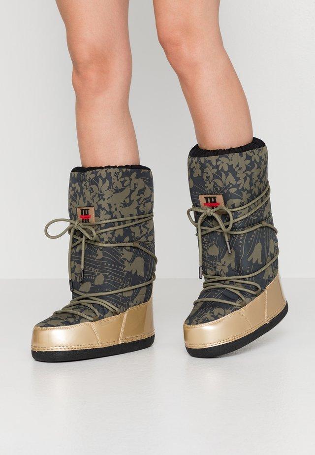 MOON 9075 - Zimní obuv - army