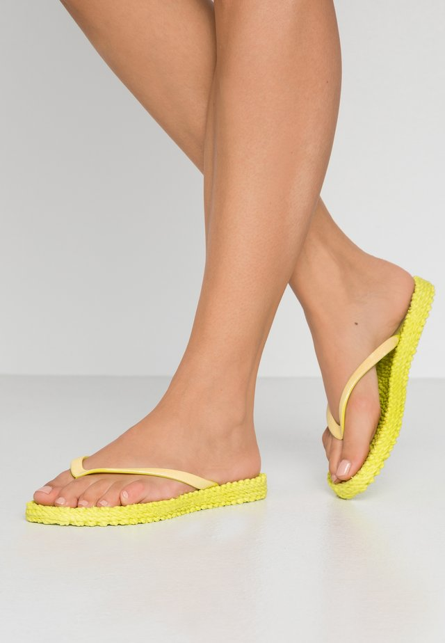 CHEERFUL - Teenslippers - lime