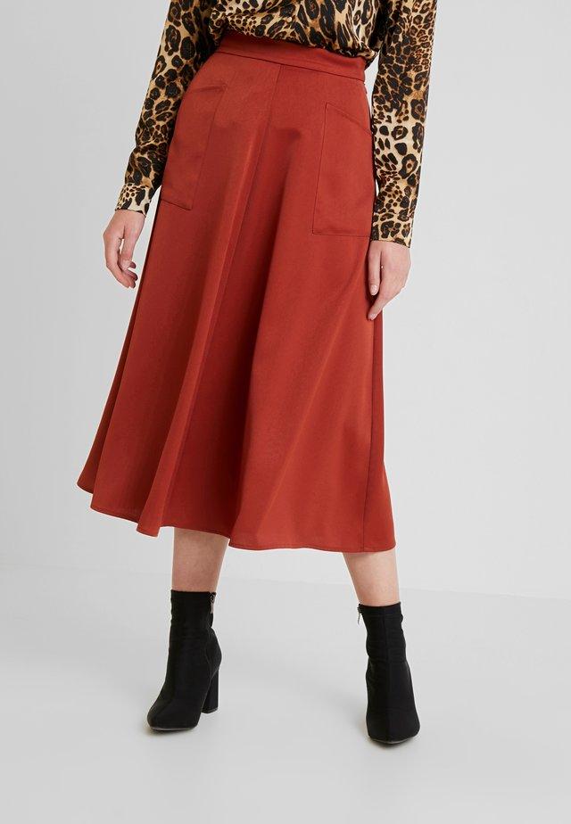 SKIRT - A-line skirt - burnt henna