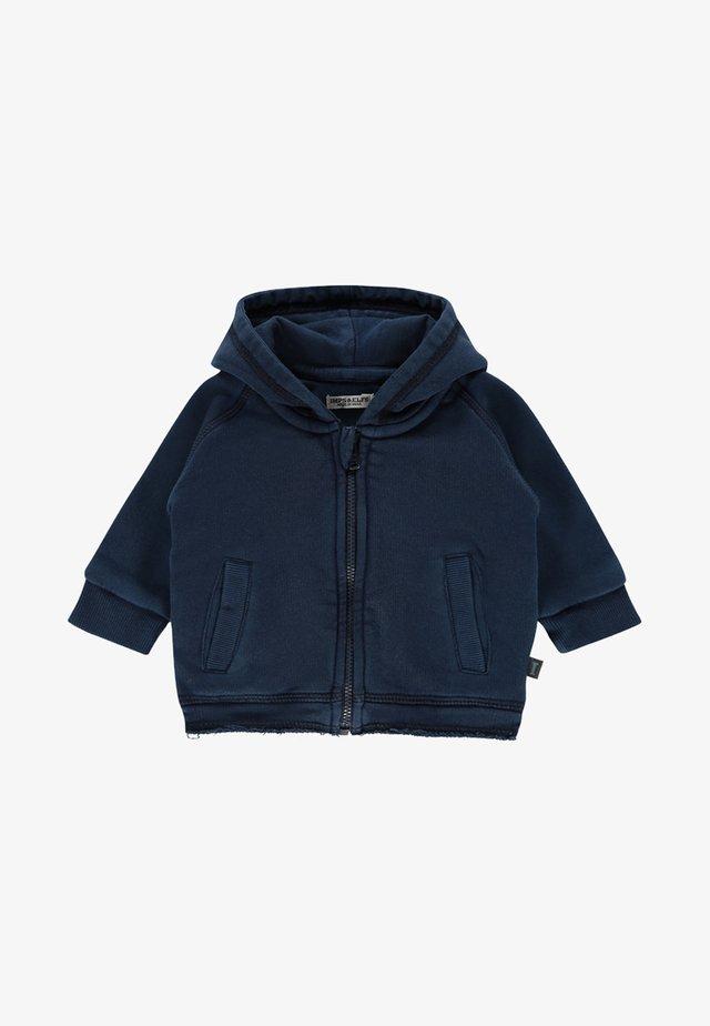 ARDROSSAN - Zip-up hoodie - indigo blue dyed
