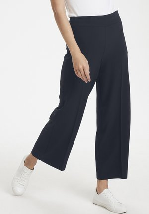 ZHEN CULOTTE PANT - Trousers - marine blue