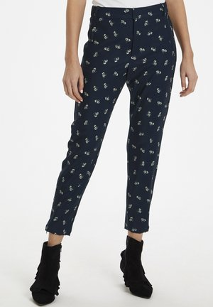 ABRIL NICA - Pantalon classique - marine blue