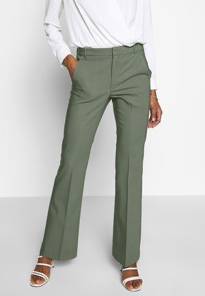 ZELLAIW BOOTCUT PANTS - Trousers - beetle green