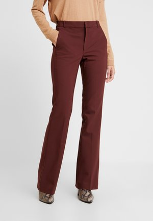 ZELLAIW BOOTCUT PANTS - Trousers - bitter chocolate