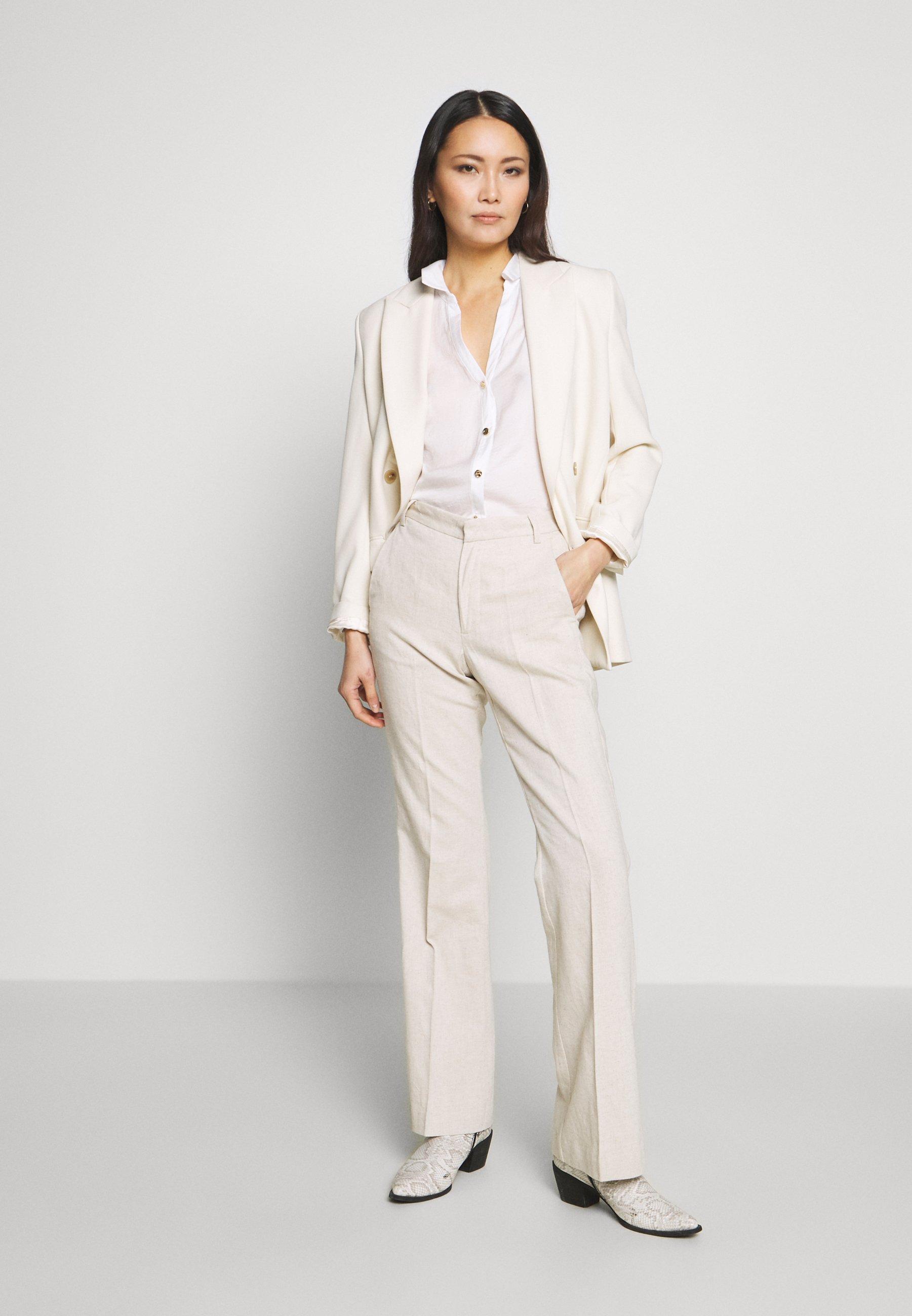 InWear NILIA PANT - Spodnie materiałowe - ecru