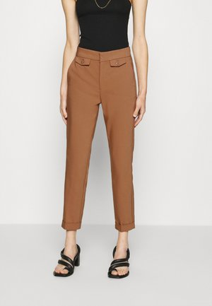 ZELLAIW TURN UP PANT - Trousers - beige