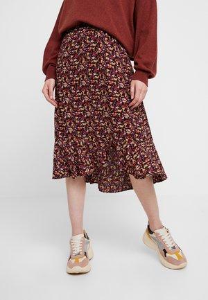 KAELIW SKIRT - Maxi skirt - rust