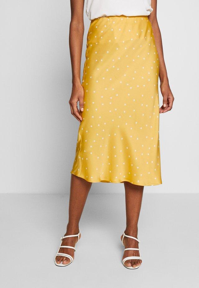 ROBERTA SKIRT - Spódnica ołówkowa  - yellow