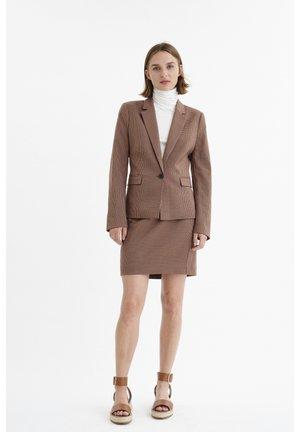 REGINAIW - Pencil skirt - brown