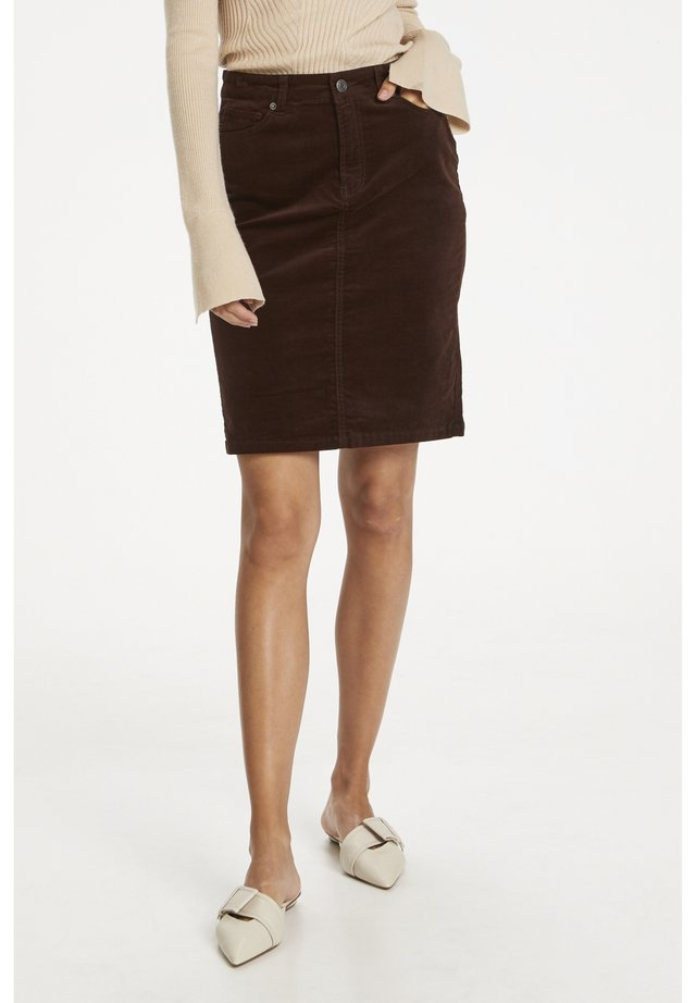 TILLE  - Denim skirt - winter beige