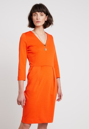 NIRA DRESS - Jersey dress - blood orange