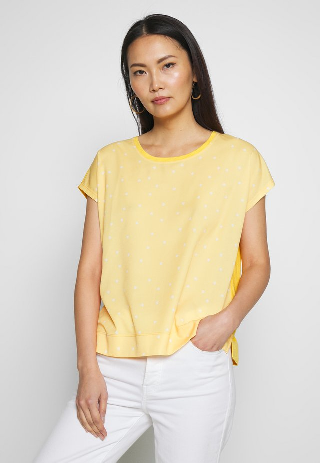 SICILY - Blouse - yellow small leaf