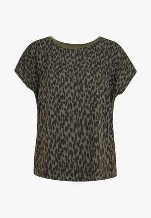 SICILY - T-shirts med print - beetle green unruly dot