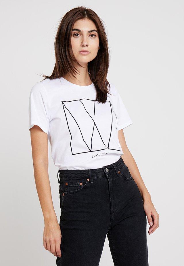 SERA - T-shirt print - pure white