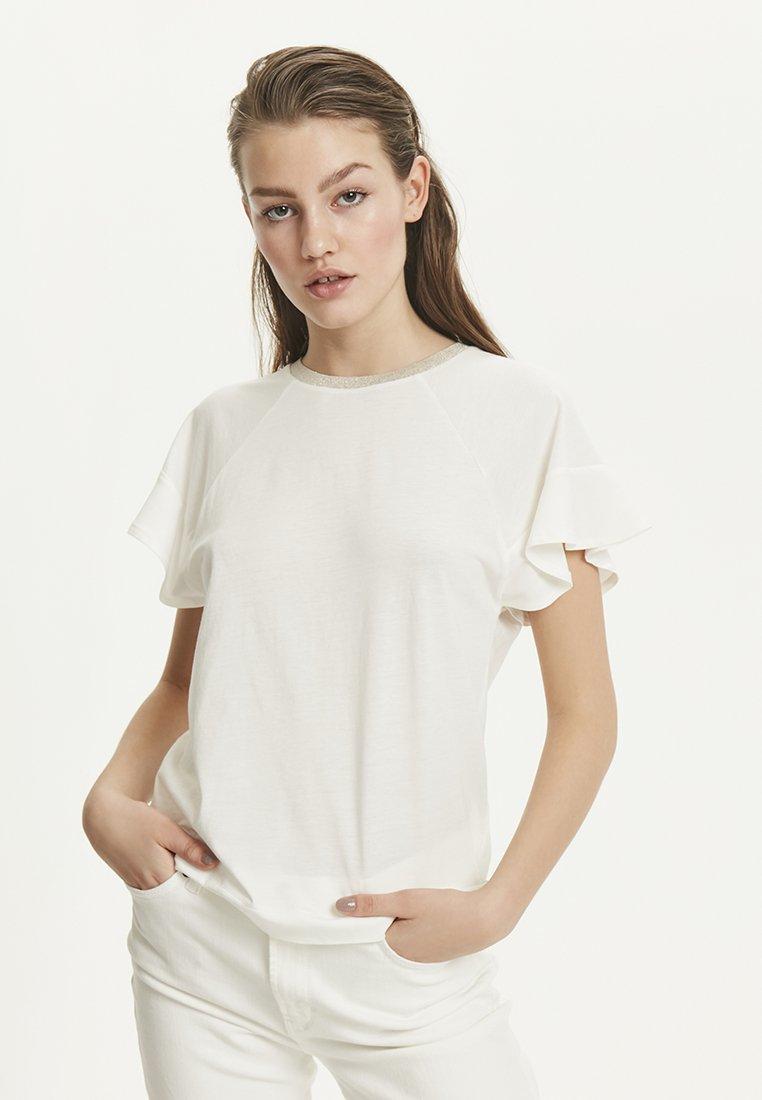 InWear - RAMIA - Print T-shirt - white smoke