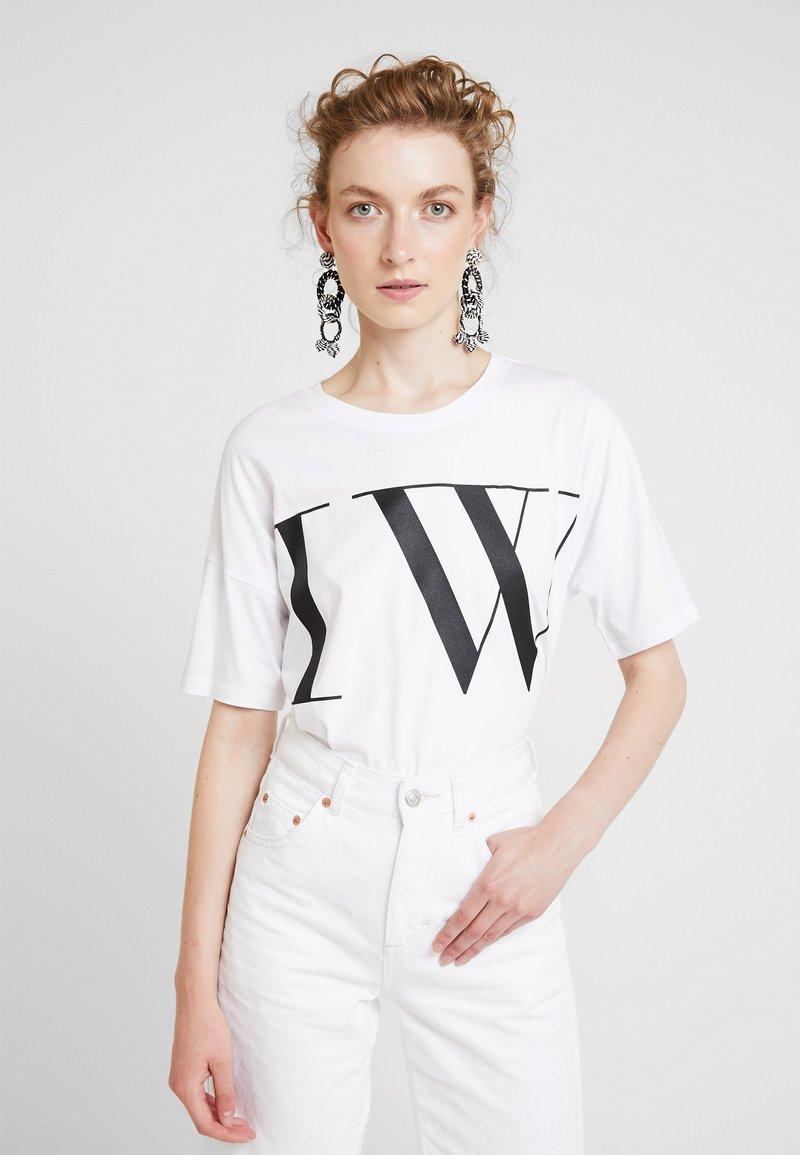 InWear - IVY RELAXED - Camiseta estampada - pure white