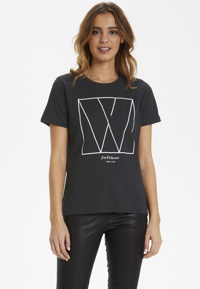 SERA - Print T-shirt - black