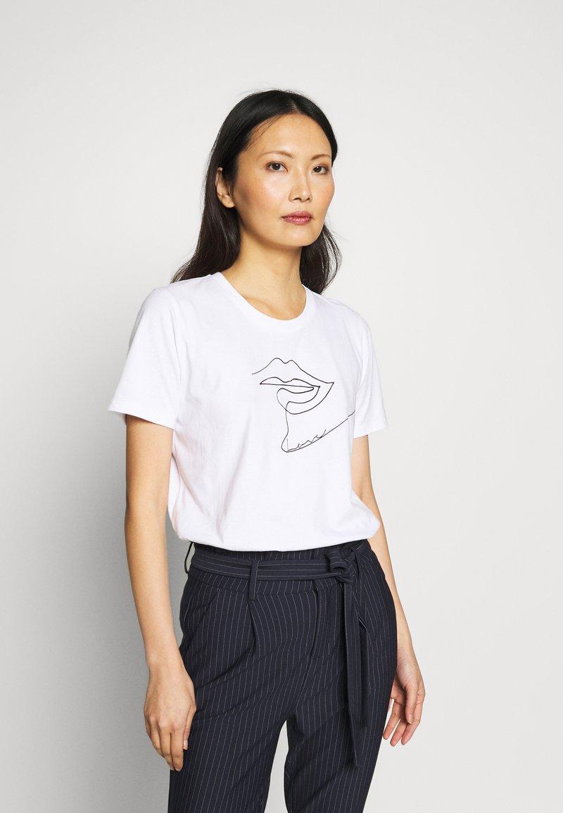 InWear - VIOLETTAIW SERA  - T-shirts med print - pure white