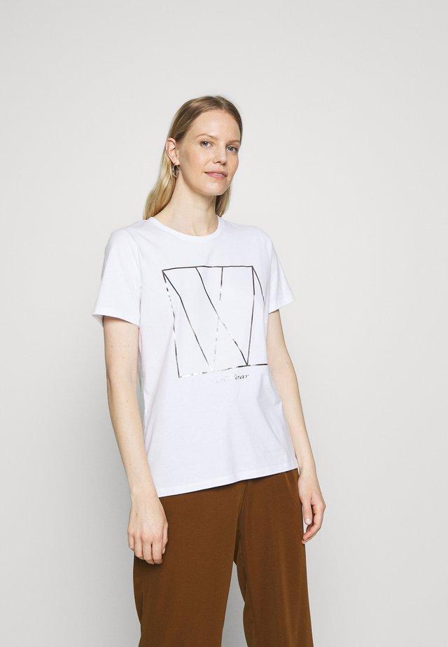 SERA - Print T-shirt - white