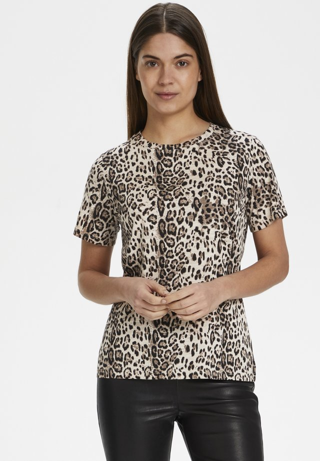 ALMAIW - T-Shirt print - natural leo