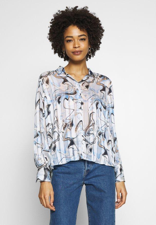 REEMA - Button-down blouse - blue