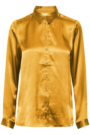 LEONORE  - Button-down blouse - sunny yellow