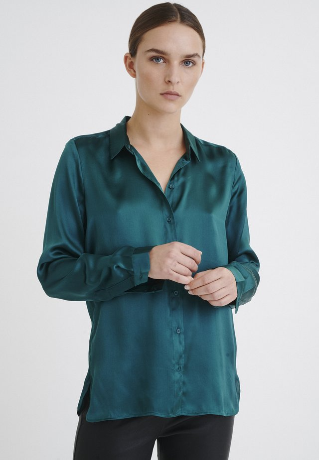 LEONORE  - Button-down blouse - deep teal