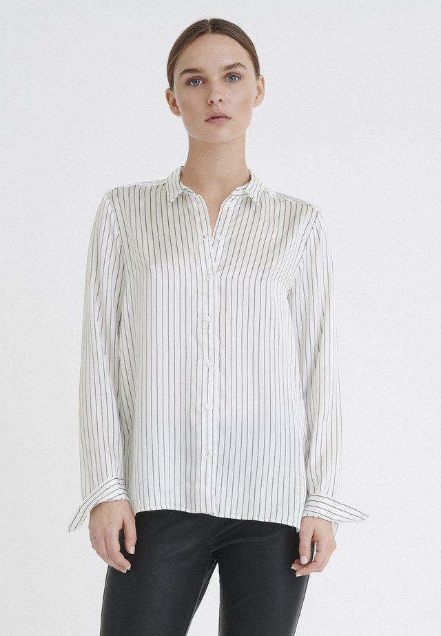 LEONORE  - Button-down blouse - black/white