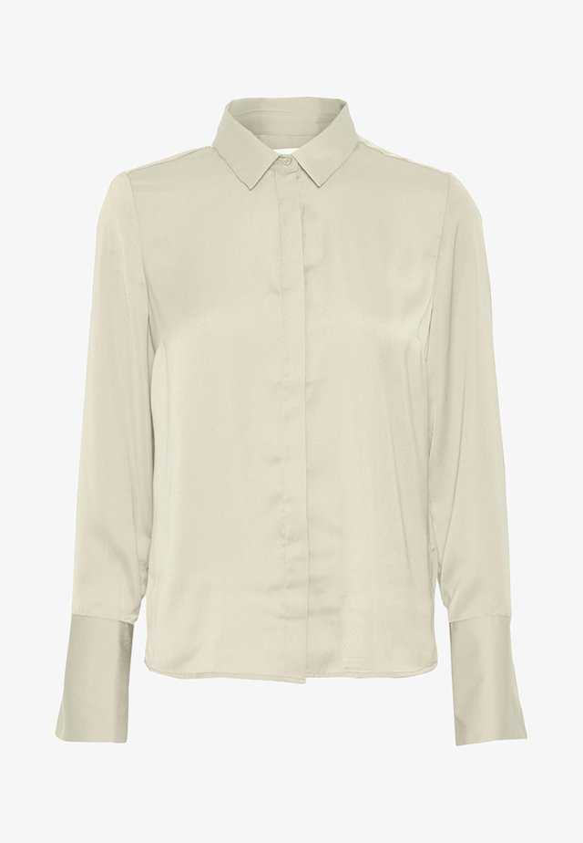 Button-down blouse - beige