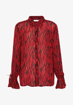 DITAIW - Button-down blouse - spicy red big zebra