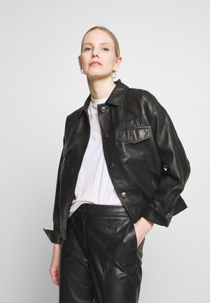 EMONE JACKET - Leather jacket - black