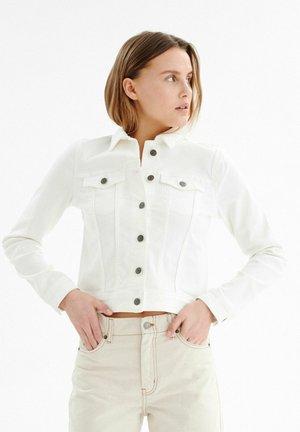 Spijkerjas - pure white