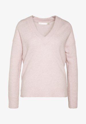 PAPINAIW VNECK - Strickpullover - pearl blush