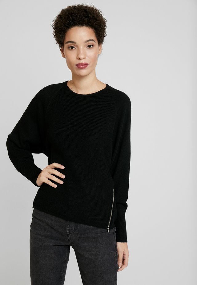 ZIPPER - Jersey de punto - black