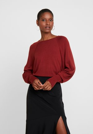 PETRI O-NECK - Sweter - russet brown