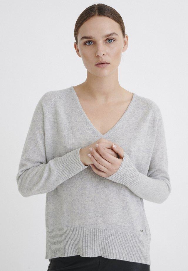 LUKKA  - Jersey de punto - new light grey melange