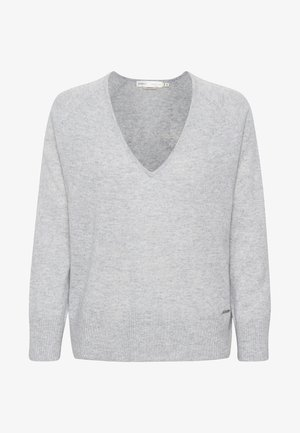 LUKKA  - Stickad tröja - new light grey melange