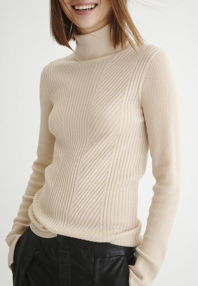 SIVLW - Stickad tröja - powder beige