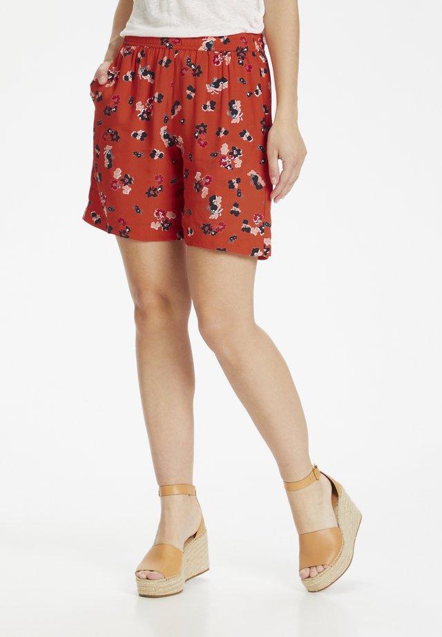 SHARON  - Shorts - blood orange bold flower