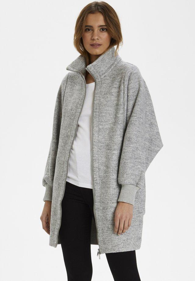 URSA ZIP COAT - Płaszcz wełniany /Płaszcz klasyczny -  light grey melange