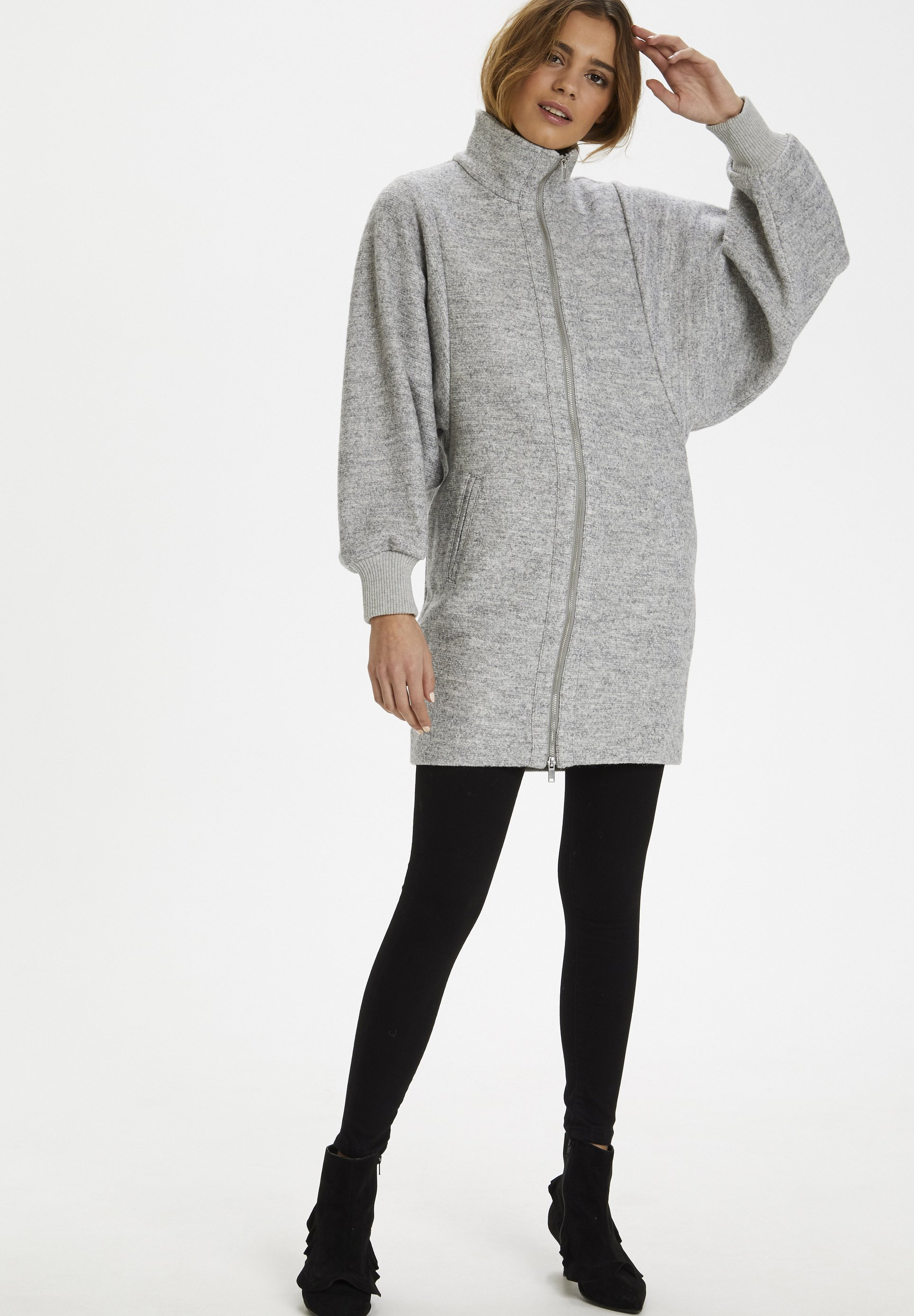 InWear URSA ZIP COAT - Płaszcz wełniany /Płaszcz klasyczny -  light grey melange